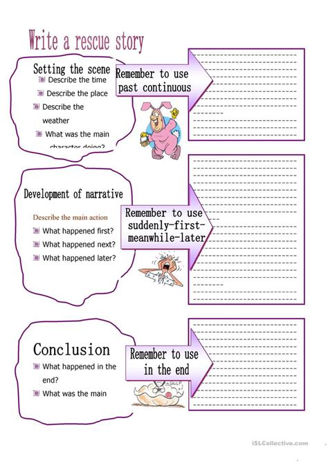 layout worksheet layout for writing a story worksheet free esl printable