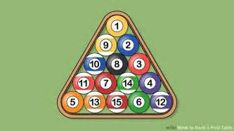 Rack Pool by How To Rack A Pool Table 10 Steps With Pictures Wikihow