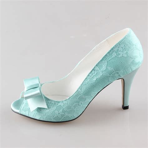 mint colored heels handmade mint light green lace heels sweet bow pumps
