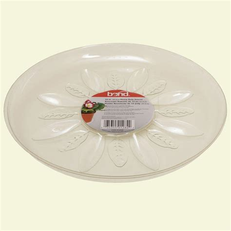 bond manufacturing 12 in heavy duty clear plastic saucer