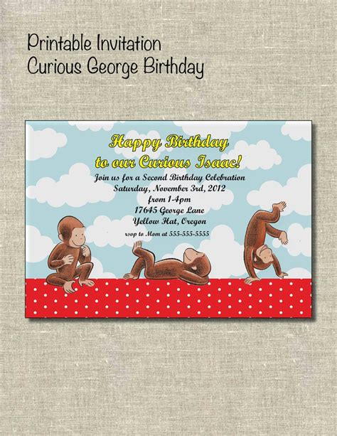 Curious George Baby Shower Invitations by 17 Best Images About Monkey See Monkey Do On