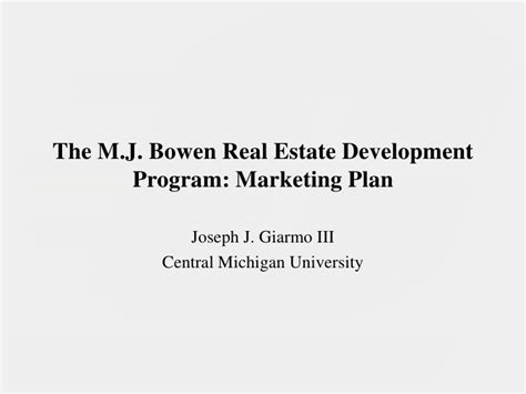 Real Estate Development Mba Programs by The Mba Project Presentation