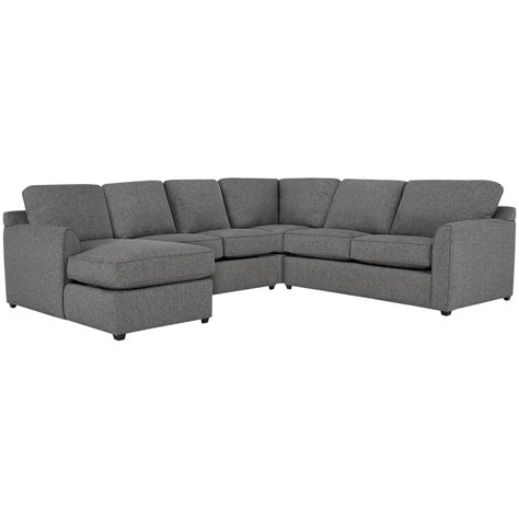 city furniture asheville gray fabric medium left chaise