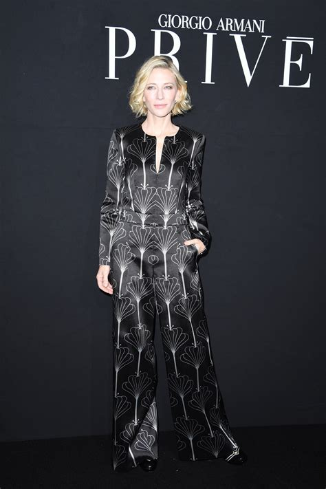 And Cate Blanchett At The Armani Fashion Show cate blanchett at the armani priv 233 show tom lorenzo