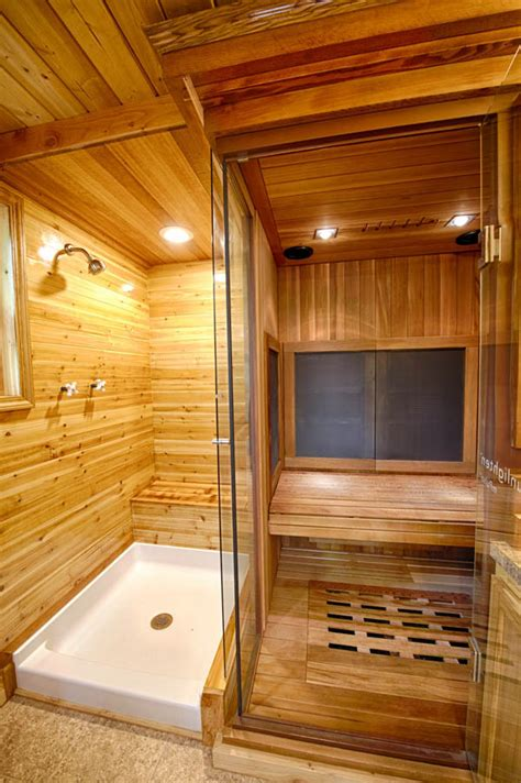 make a sauna in your bathroom stunning hope cottage includes a 2 person sauna tiny