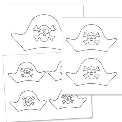 pirate hat template pirate hat template printable treats