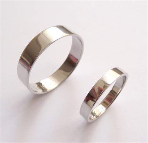 White Wedding Bands by White Gold Wedding Band Set Wedding Ring Wedding