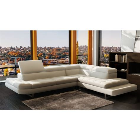 modern furniture stores in la 963 modern white italian leather sectional sofa