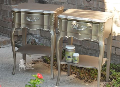 metallic painted provincial nightstands hometalk