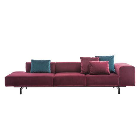 divani kartell kartell divano sinistro a 3 posti largo velluto rosso