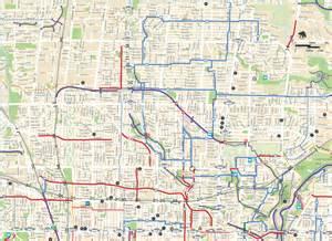 toronto california map cycling map soho phoebe bikeway completed
