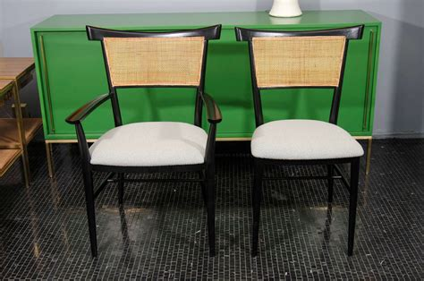 black lacquer dining room furniture set of 6 black lacquer and cane paul mccobb dining chairs