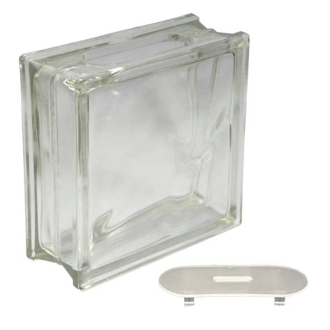 lowes crafts shop redi2craft glass block common 8 in h x 8 in w x 3