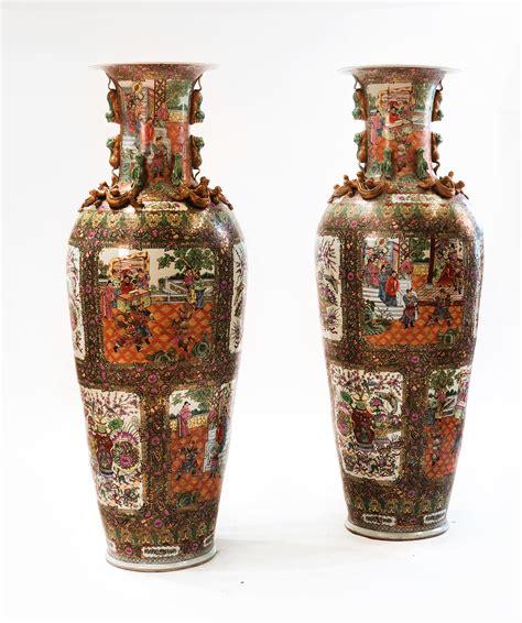 valutazione vasi cinesi coppia di vasi cinesi da parata dipinti antichi e arte