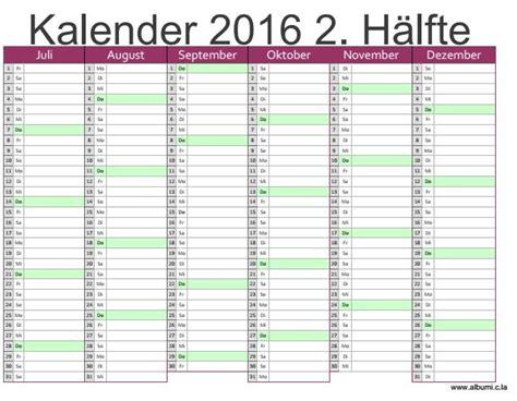 Blanko Kalender 2016 Kalendar 2016 2 H 228 Lfte 2016 Blank Calendar Calendar