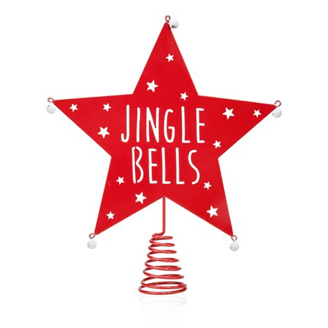 red jingle bells star tree topper departments diy at b q