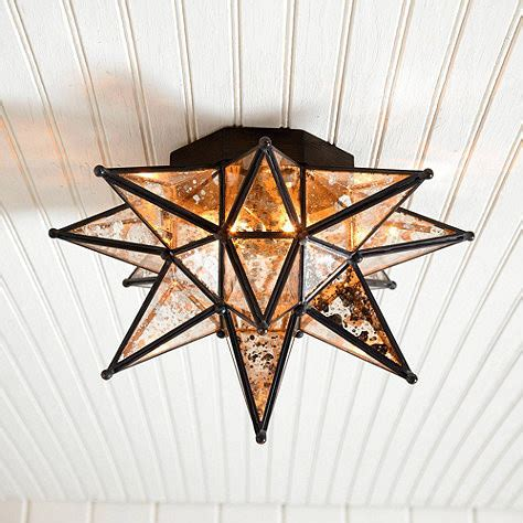 moravian ceiling mount mercury glass ballard