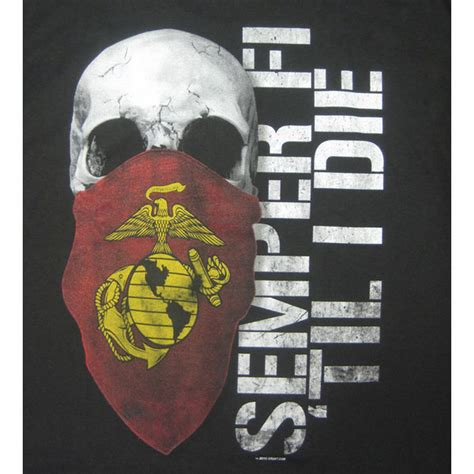semper fi marines black t shirt