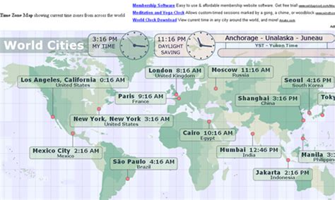 us map with major cities and time zones 16 useful websites with world clock utilities blueblots com