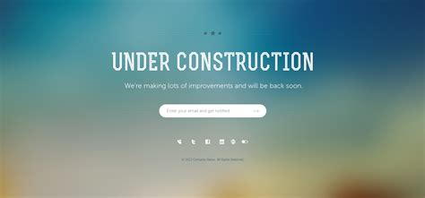 7 under construction page templates website templates