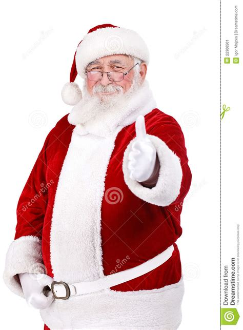 santa claus thumbs up santa claus with thumb up stock image image 22306501
