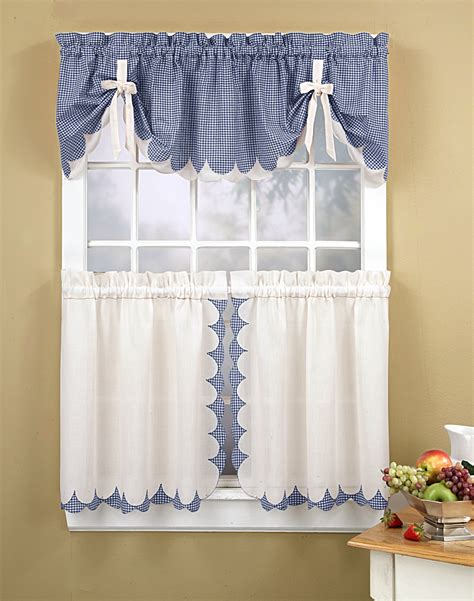Kitchen Curtains Tabitha 3 Piece Kitchen Curtain Tier Curtain Design For Kitchen