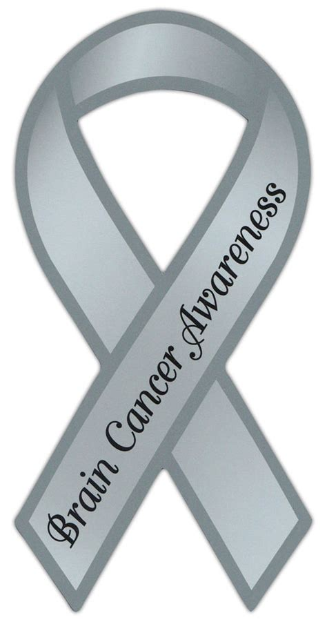 brain cancer awareness color ribbon awareness support magnet brain cancer cars