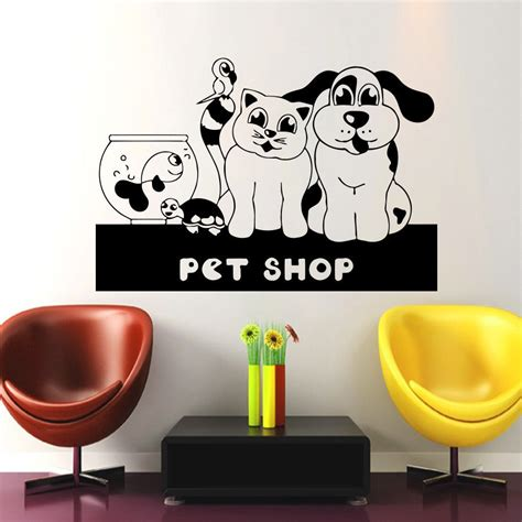 wall stickers shop grooming salon pet shop sticker decal muurstickers