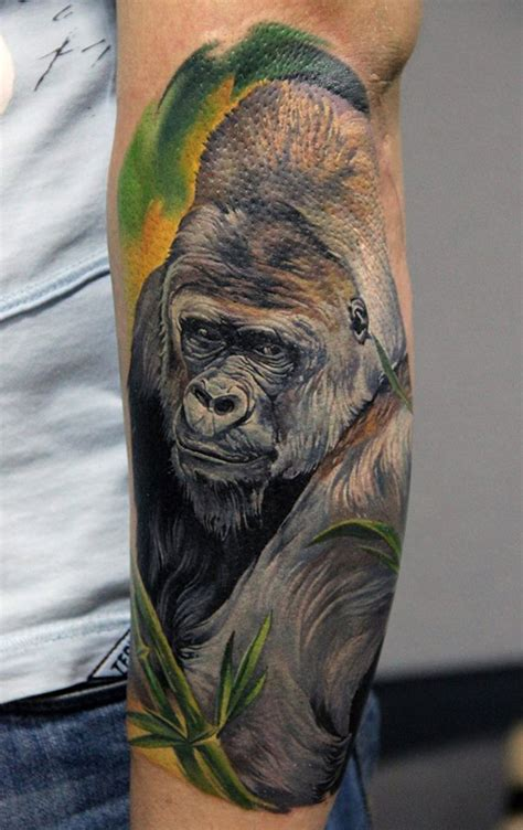 gorilla on forearm best tattoo ideas amp designs