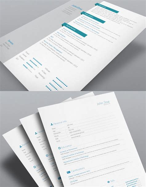 free indesign templates 8 sets of free indesign cv resume templates designfreebies