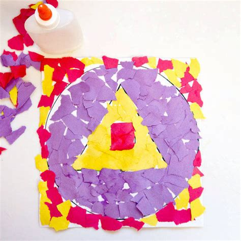 Paper Tearing Craft - torn paper shape collage pictures photos and images for