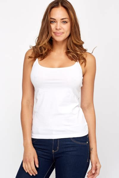 White Cotton Cami basic white cotton cami top cheap tops tops for 5 pounds everything 5 pounds