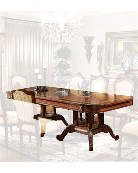 infinity furniture infinity furniture dining table w two pedestals louis xvi