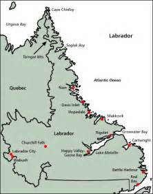 map of labrador canada map of canada regional city in the wolrd labrador map