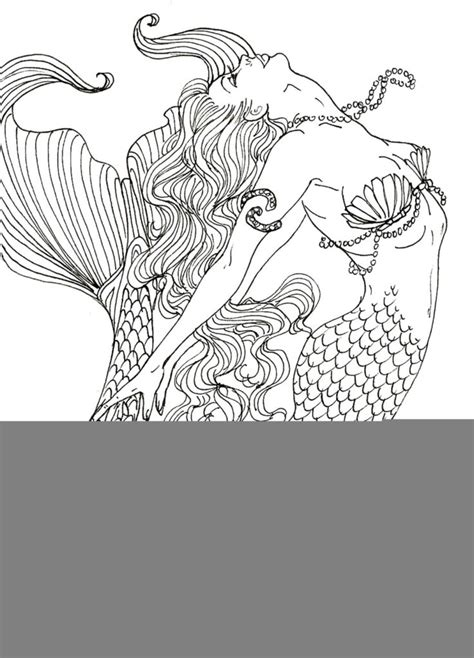 realistic coloring pages for adults coloring pages photo mermaid picture books coloring pages