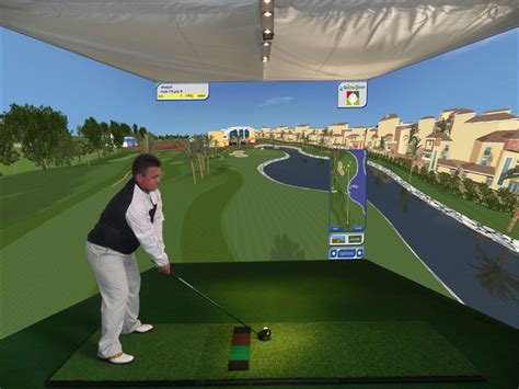 room golf custom indoor golf simulator for home family room