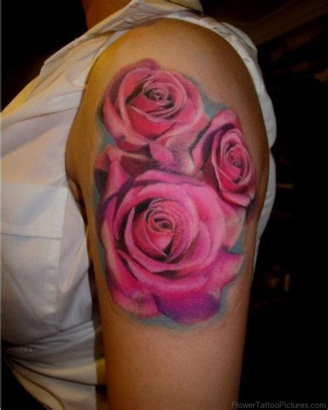 pictures of tattoo roses 80 excellent flowers tattoos on shoulder