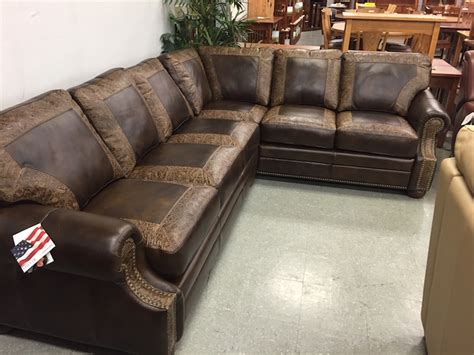two tone leather sectional sofa usa leather furniture best selection portland