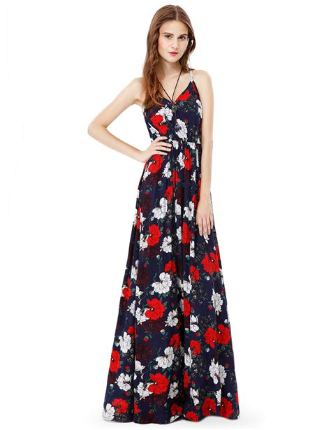 Floral Sleeveless Evening Dress alisapan dress floral spaghetti sleeveless