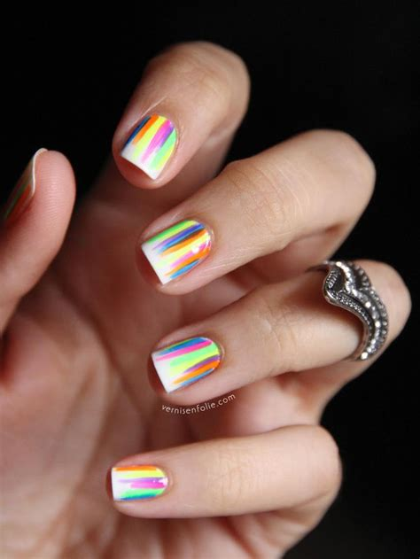 easy nail art bright colors cute easy nail designs