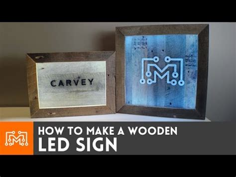 led sign  reclaimed wood   youtube