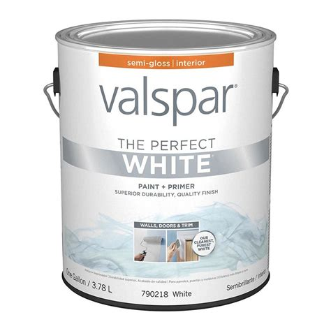 perfect paint shop valspar perfect white semi gloss latex interior paint and primer in one actual net