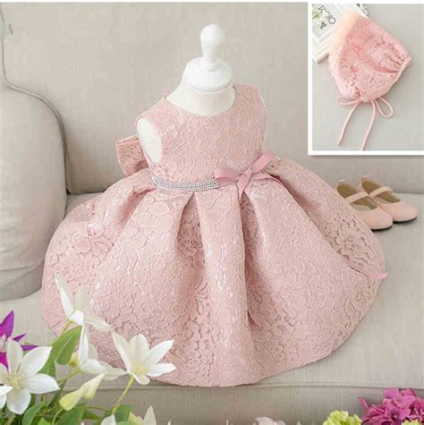 Dress Baby 3 In 1 set of one year baby baptism dress princess wedding vestidos 2017 baby