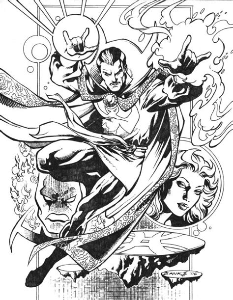 doctor strange coloring page docter strang marvel heroes coloring pages clipart library