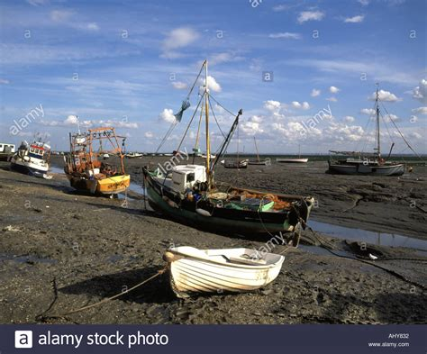river thames boat fishing leigh on sea and river thames estuary at low tide with