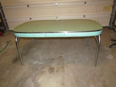 Blue Formica Kitchen Table by Vtg 50s Retro Aqua Blue Green Formica Chrome Kitchen Table