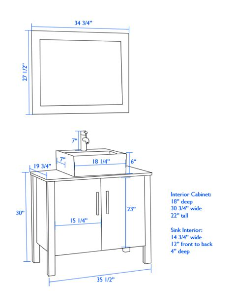 typical bathroom sink height vessel sink cabinet height vessel sink cabinet height