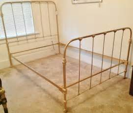 Antique Bed Frames C 1920 Antique Cast Iron Gold Painted Bed Frame