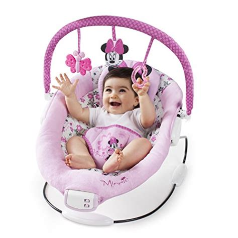 pink baby bouncer swing disney minnie mouse garden swing bouncer pink seat music