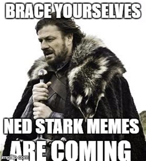 Make A Brace Yourself Meme - ned stark imgflip